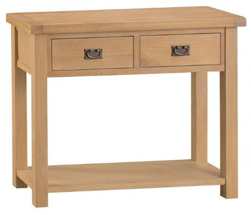 Chelmsford Oak 2 Drawer Console Table